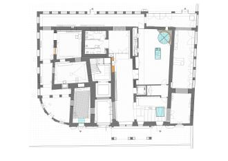 Ground floor plan. Museum and reception