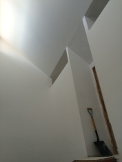 The rooms get light from the stair